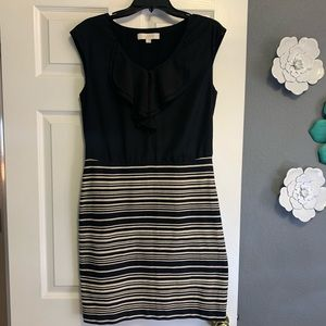 LOFT Sleeveless Striped Skirt Dress